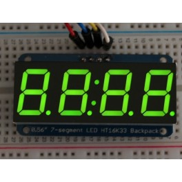 "Adafruit 0.56"" 4-Digit 7-Segment Display w/I2C Backpack - Green"