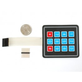 Membrane 3x4 Matrix Keypad + extras
