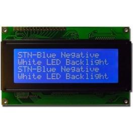 Alfanumerický displej 4x20 znaků se sériovým rozhraním modrý