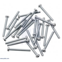"Machine Screw: 2-56, 3/4"" Length, Phillips (25-pack)"