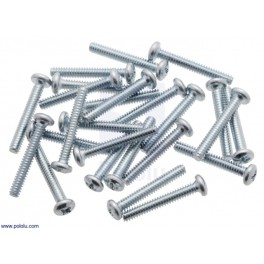 Machine Screw: 4-40, 3/4″ Length, Phillips (25-pack)