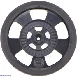 Solarbotics GMPW-B BLACK Wheel with Encoder Stripes, Silicone Tire