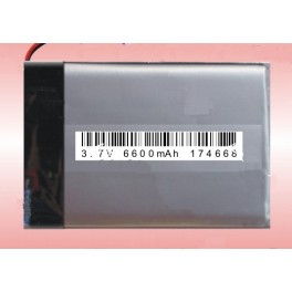 Lithium Ion Polymer Battery - 3.7V 6600mAh