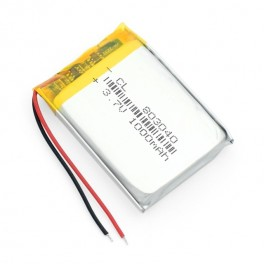 Lithium Ion Polymer Battery - 3.7v 1000mAh