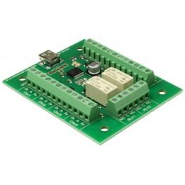 USB-RLY82 - 2 kanálové relé ovládané přes USB