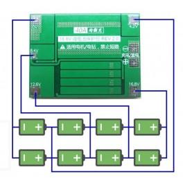 Ochranný modul Li-ion 4S 40A a balancer