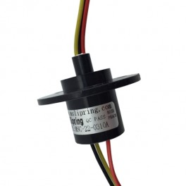 Slip Ring with Flange - 22mm, 3 wires, 10A 240V