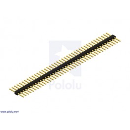 "0.100"" (2.54 mm) Breakaway Male Header: 1x40-Pin, Straight, Double-Sided"