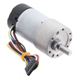 19:1 Metal Gearmotor 37Dx68L mm 12V with 64 CPR Encoder (Helical Pinion)