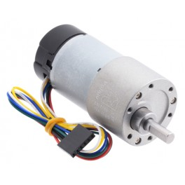 100:1 Metal Gearmotor 37Dx73L mm with 64 CPR Encoder (Helical Pinion)