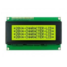 Alfanumerický displej 4x20 znaků se sériovým rozhraním žlutý