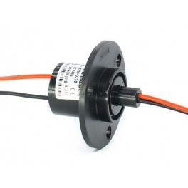 Kroužkový sběrač s přírubou 22mm, 2 vodiče 10A