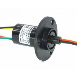 Kroužkový sběrač s přírubou 22mm, 4 vodiče 10A