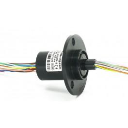 Kroužkový sběrač s přírubou 22mm, 18 vodičů 2A